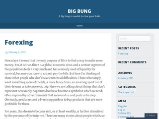 Big Bung blog